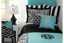 Tiffany Blue Custom Dorm and Teen Bedding and Decor Ideas / Every girl love the little blue box! Creative bedding and decor ideas in tiffany blue and black! / by Decor 2 Ur Door Bedding