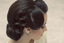 Wedding Hair / Old Hollywood glam hair / by The Comforting Vegan