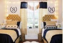 2015 Dorm Room Decorating Inspiration / Dorm room décor and dorm decorating featuring trendy dorm bedding and custom décor and monograms . Get inspired to make your dorm room uniquely yours!  / by Decor 2 Ur Door