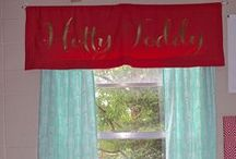 Custom Window Treatments and Window Panels / Design your own fabric panels- add lining and blackout Specify your length. Select your fabric from 500+trendy options and colors.  Add monograms. Perfect for home apartment dorms and more / by Decor 2 Ur Door Bedding