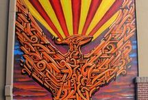 Phoenix Murals / Take a peek at the vibrant artwork of Phoenix's street art.  Some of the murals here were painted along Roosevelt Row, the arts district in downtown Phoenix. These murals come and go as new artists add their creative mark, but you can plan a self-guided tour of this living gallery here: http://www.rooseveltrow.org/about/roosevelt-row-arts-district/ / by Visit Phoenix