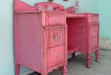 Lady cave / If he can have a 'man cave' I can get my lady cave. A place for make up, fashion, pink, wine, and all things girly!  / by Sarah Gladu