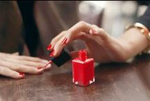 """Colourful Nails / What is commonly called """"nail art""""."""