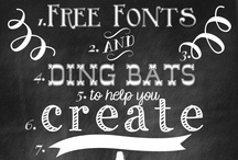 FREE Fonts / by How Does She