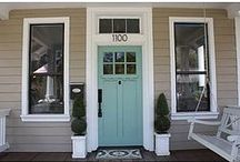 Exterior Front Doors Ideas / Looking for the perfect front door color? Here are some ideas. / by Grauers Decorating Center Lancaster Pa