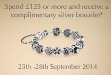 Pandora FREE Bracelet Event / Spend £125 on Pandora (25/09/2014 - 28/09/2014) and claim your FREE Pandora Silver Bracelet! Also receive FREE Delivery on ALL Pandora available at John Greed!  Shop now >>> http://www.johngreedjewellery.com/en/uk/pandora/icat/pandora / by John Greed Jewellery