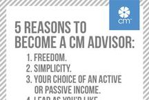 The CM Advisor Opportunity / If you like the idea of having a little (or a lot) of extra money in the budget each month just by sharing CM, picture yourself as a CM Advisor. It couldn't be simpler.  / by CM Group