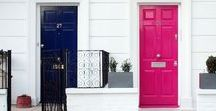 Statement Doors / From colorful to ornate, gorgeous and grand, find your next beautiful door here!