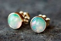 Gemstone Earrings / Timeless, romantic, and elegant gemstone earrings.