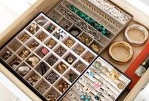 Jewelry Storage / Functional, beautiful, and creative ways to store your jewelry including trinket dishes, wall displays, and stand alone jewelry cases.