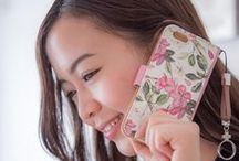 Floral Pattern iPhone Cases / iPhone Cases designed with floral pattern. 100% Made in Japan. Ship from USA to worldwide within 24 hrs. Please visit our site at www.dhouse-usa.com