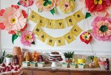 love | garlands / #celebration #party #garlands #decorations #streamers #diy