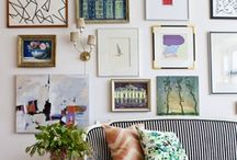 Beautiful gallery walls