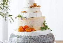 LOVE Cheese Wheel Cakes! / Hudson Valley Weddings, Catskills Weddings / Inspiration from Hudson Valley Vintage Rentals. Rustic Weddings, Vintage Weddings, Boho Weddings, Eclectic Weddings, Country Weddings.