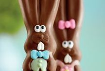 We are #allears / Our solid chocolate bunny, Ears, is hopping around the Harry & David campus this #Easter. Follow his adventures here on Pinterest and on Instagram #allears
