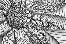 Doodle Zen / Doodles, Zentangles, Mandalas inspiration