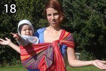 Rebozo / Úväz na bok, Rebozo, krátka pevná šatka; Rebozo carry, hip carry, woven wrap, babywearing
