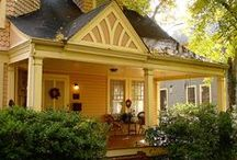 Cottage - The Yellow Belle / The Yellow Belle Cottage sits in the country, surrounded by fields of flowers and groves of trees. It has been here a long time and is loved by all. Please pin POLITELY.