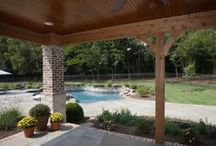 Outdoor Living Spaces / Outdoor living spaces built by Shane McFarland Construction #mcfarlandbuilds