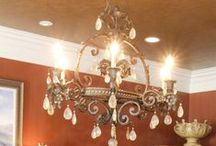 Light Fixtures / Just a few of the gorgeous and unique light fixtures in some of our custom homes.  #mcfarlandbuilds
