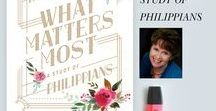 What Matters Most / Discovering the truth about what matters most with Karen Ehman's new LifeWay Women's Bible study on the book of Philippians. #whatmattersmoststudy