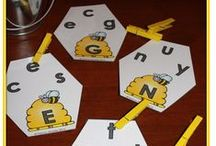 ABC Center Ideas / Ideas to teach pre-kindergarten and kindergarten students letter identification.