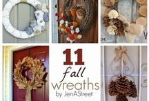 Fall-Wreaths / A collection of wreaths that are Fall themed.