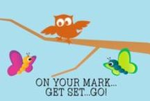 Starter Series (On Your Mark, Get Set, GO!) / Examples and inspirations of activities for the On Your Mark, Get Set, GO! theme. In addition, you will find recommended supplies and links to Social Media Plan posts. / by First Look