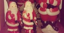 """Have Yourself A """"Vintage"""" Christmas / antique Santa's, reindeer, angels, snowman to make your holiday a treasure."""