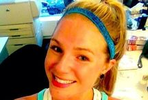I don't sweat, I SPARKLE!  / How do you rock your Sparkly Soul nonslip headband during a workout? www.sparklysoul.com