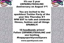 Sparkly Soul Promotions! / Keep an eye on social media for promotion codes and giveaways on our different social media sites! www.sparklysoul.com  Here are our Sparkly Soul links: Facebook (www.facebook.com/sparklysoulinc), Twitter (@SPARKLYSOULINC) and Instagram/Pinterest/Tumblr (SPARKLYSOULINC), Google + (Sparkly Soul) and LinkedIn (Sparkly Soul, Inc.) - Sparkle on!