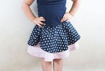 Pienkel Patterns - Dyyni Skirt Pattern / The Dyyni skirt pattern by Pienkel, a versatile six gored pattern with loads of options, in size 2y-16y and in ladies sizes 2-20. Available in English and Dutch via www.pienkel.com