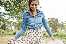Moderately Modest Feminine Fashion / Inspiration for moderate coverage feminine fashion: flowing calf/ankle/floor length skirts, loose 3/4 or long sleeve blouses, covered cleavage, midriff, and back, and flat or sturdy heeled shoes. / by Ashley Legan