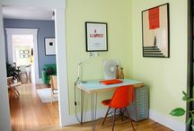 Colouring My Home / Lime, Orange, Red & Black; things that match my home.