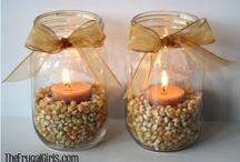 Candles, lights & mason jar crafts