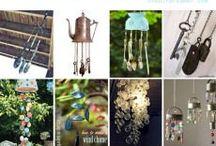 windchimes / made with silverware/beads/keys/glass / by Diane Hartfiel