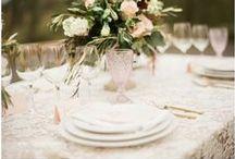 Table Settings / Flora Fetish hand-picked wedding inspo!