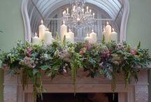 Wedding top table arrangements and Mantelpiece arrangements / Wedding top table arrangements