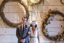 Hessian wedding chic | Kay's wedding / Hessian barn wedding