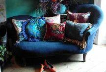 Blue Sofa Living Room / Enhancing my blue sofa living room / by Ashley Legan