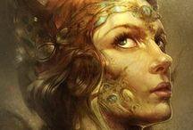 Digital painting / Digitally painted arts.