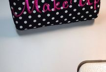 Weddings - Bridesmaid Gifts / Our New Cosmetic Makeup Bags / by Roseann | Mia Bella Originals