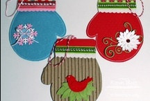 Mittens and Hats / Art Ideas and Activities for 2013 Holiday Card Exchange
