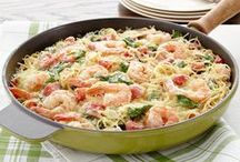 Fish and Seafood Recipes / Go fish! These easy and delicious fish dishes and seafood favourites will inspire you to serve up salmon, lobster and more tasty maritime meal ideas. / by what's cooking - Kraft Canada