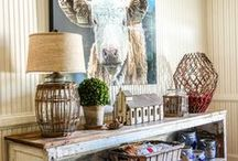 HOME Farmhouse / Tons of ideas to incorporate into your own farmhouse style; barn doors, farmhouse sinks, subway tiles... and yes, shiplap too. Inspiration with every pin!