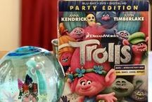 TROLLS Movie Night In #TrollsFHEInsiders #BringHomeHappy / To celebrate the release of Dreamworks Trolls on bluray dvd Party Edition. Craft, free printables and party ideas.