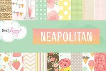 Dear Lizzy Neapolitan / Projects and ideas created using our Dear Lizzy Neapolitan Collection, released Summer 2012 by American Crafts, Inc. #dearlizzy #scrapbooking #neapolitan