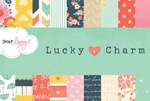Dear Lizzy Lucky Charm / Dear Lizzy Lucky Charm Collection, released Winter 2013 by American Crafts, Inc. An endearing assortment of charm bracelet icons in a dreamy palette. This collection is positively charming! #charm #scrapbooking #papercrafts #cards