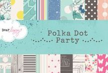 Dear Lizzy Polka Dot Party / Dear Lizzy Polka Dot Party Collection released Winter 2014 by American Crafts, Inc. #scrapbooking #paper #products #polkadot #crafts