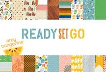 Amy Tangerine Ready Set Go / Amy Tangerine Ready Set Go Collection, released Summer 2012 by American Crafts Inc. #americancrafts #scrapbooking #papercrafts